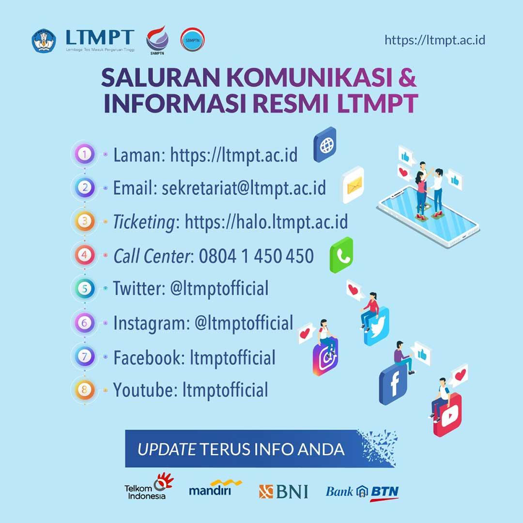 Saluran Komunikasi dan Informasi Resmi LTMPT